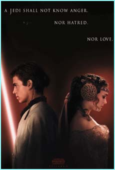 One of the posters for the movie with a teaser about how Anakin may eventually turn to the dark side