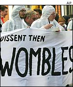 Womble protest