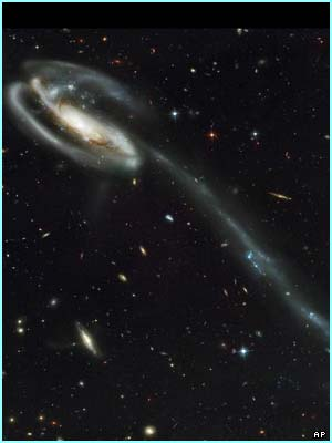 Many new things were seen such as a spiral galaxy, The Tadpole, which has a small blue galaxy in its head