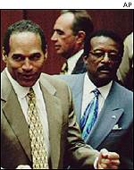 Cochran (right) defended OJ Simpson