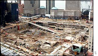 Ground zero in New York, six months after the attack