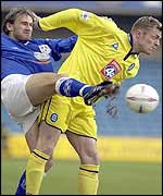 Birmingham's Geoff Horsfield was industrious in attack