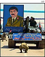 Tank with portrait of Dostum