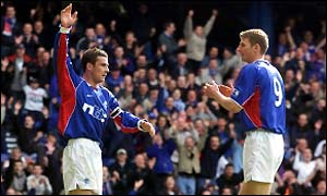 Skipper Barry Ferguson (left) hopes to celebrate his return to fitness with another trophy