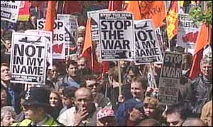 Anti- war protesters