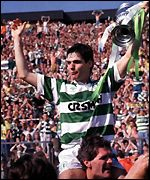 Joe Miller celebrates the 1989 win