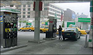 Petrol station in midtown Manhattan