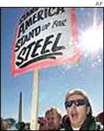 US steel protests