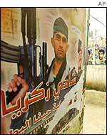 Poster of Palestinian fighter in Jenin