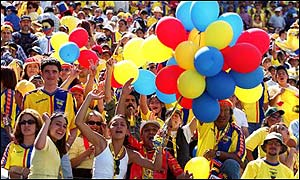 Ecuador fans are in party mood as they secure qualification to the World Cup