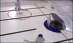 PlayPuck table ice hockey game, BBC