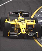 Giancarlo Fisichella in the Jordan-Honda EJ12