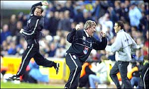 Manager Steve Bruce celebrates Birmingham's victory over Millwall
