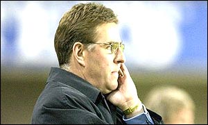 Millwall manager Mark McGee looks on as his side lose to Birmingham in injury time