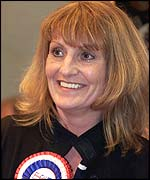 Carol Hughes, elected for the BNP in Burnley
