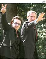 Bono and George Bush