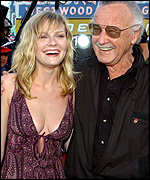 Kirsten Dunst with creator Stan Lee