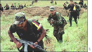 FARC rebels training in Colombia