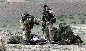 British casualty, suffering in the high altitude