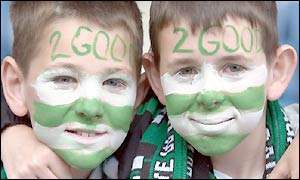 Celtic fans in confident mood as kick-off approaches
