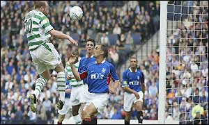 John Hartson scores in the 19th minute