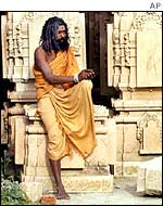 Hindu holy man in Ayodhya