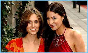 Jayne Middlemiss and Lisa Snowdon