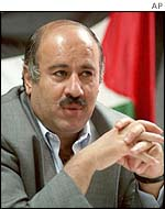 West Bank security chief Jibril Rajoub