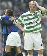 Celtic's John Hartson is left disappointed