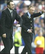 Celtic's Martin O'Neill and Rangers' Alex McLeish