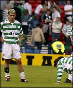 Celtic players show their dejection