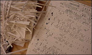 Shredded paper and scanned documents