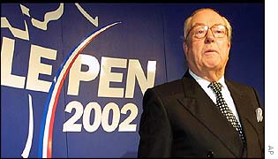 Jean-Marie Le Pen as the results came in