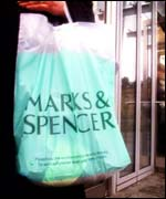 A Marks & Spencer carrier bag