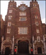 The Prince of Wales' current home, St James's Palace