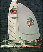 Peter Blake's Enza broke the Jules Verne record in 1994