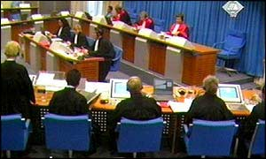 The tribunal prosecuting war crimes in the former Yugoslavia, The Hague