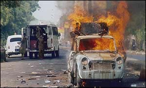 Sunday's rioting in Gujarat