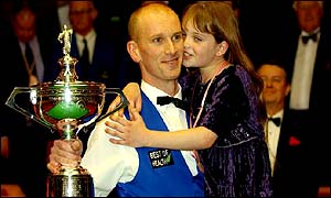 Ebdon has cited his family as the main inspiration behind his astonishing victory