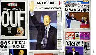 French newspapers, 6 May