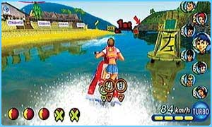 One of the games - Wave Race: Blue Storm