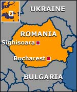 Map showing Sighisoara