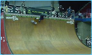 Vertical half-pipe