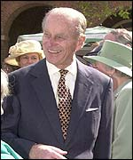 Prince Philip on a walkabout in Taunton