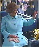 Queen on the Metro train