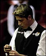 Matthew Stevens has narrowly missed out at The Crucible