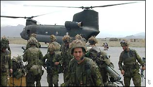 Canadian troops at Bagram air base