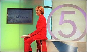 Channel 5 news set