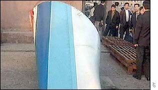 Wreckage from the Chinese airliner