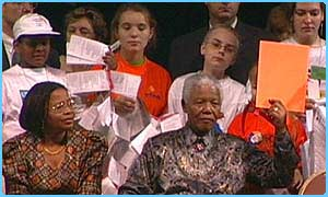 Nelson Mandela at the Children's forum